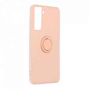 Гръб Roar Amber с държач - Samsung Galaxy S21 розов