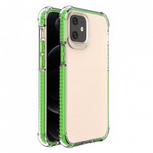 Гръб Spring Armor с цветна рамка - iPhone 12 Mini зелен