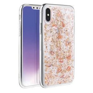 Гръб UNIQ Lumence Clear - iPhone XS Max розово злато