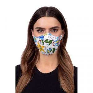 Защитна маска - фолклор 2 бяла