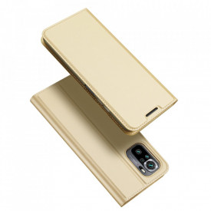Калъф тип книга DUX DUCIS Skin Pro - Xiaomi Redmi Note 10 / Redmi Note 10S златист