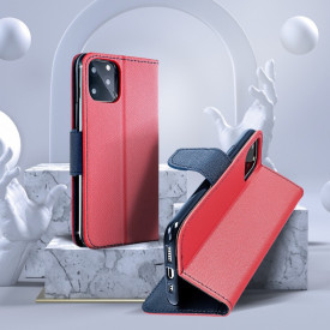 Калъф тип книга Fancy - Xiaomi Mi 11 Ultra червен / тъмносин