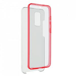 Калъф 360° с твърд гръб - Samsung Galaxy S21 Ultra червен