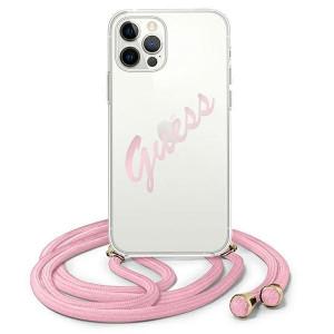 Оригинален гръб GUESS GUHCP12MCRTVSPI - iPhone 12/12 Pro розов