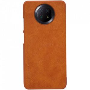 Оригинален кожен гръб Nillkin Qin - Xiaomi Redmi Note 9T 5G кафяв