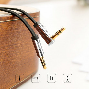 Плосък кабел Ugreen AUX 3.5mm 3m сребърен (10728)