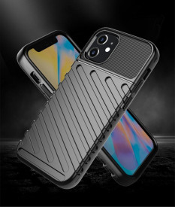 Релефен гръб Thunder - iPhone 12 Mini черен