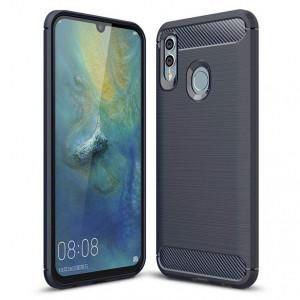 Силиконов гръб Carbon - Huawei P Smart Plus 2019 / Honor 10 Lite син