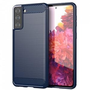 Силиконов гръб Carbon - Samsung Galaxy S21 Plus син