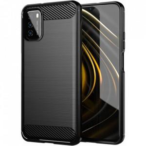 Силиконов гръб Carbon - Xiaomi Poco M3 черен