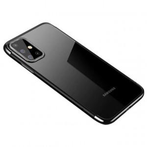 Силиконов гръб Clear Color с кант - Samsung Galaxy A41 черен