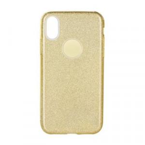 Силиконов гръб FORCELL Shining - Huawei P30 Lite златист