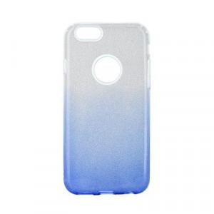Силиконов гръб FORCELL Shining - iPhone 6 / 6s прозрачен-син