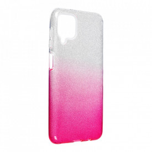 Силиконов гръб FORCELL Shining - Samsung Galaxy A12 сребрист / розов