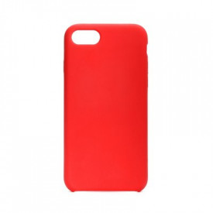 Силиконов гръб FORCELL Silicone - iPhone 7 / 8 / SE 2020 червен (без отвор за лого)