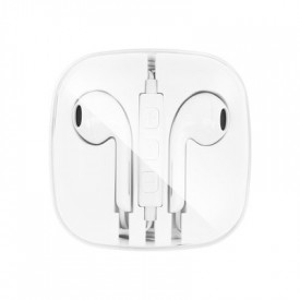 Стерео слушалки NEW BOX за Apple 3.5mm жак бели