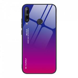 Стъклен гръб - Huawei P40 Lite E розов-лилав
