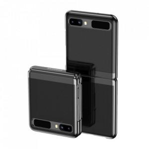 Ултратънък гръб с кант Electro - Samsung Galaxy Z Flip черен