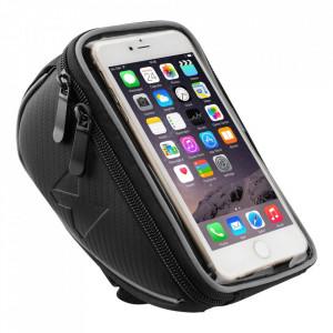 """Чанта за кормилото на колело с Touch Screen WOZINSKY - 6.5"""" 0.9 л черен (WBB4BK)"""