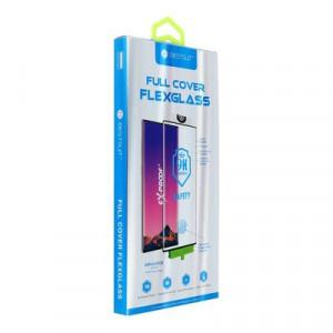 5D Hot Bending нано протектор с пълно покритие - Samsung Galaxy Note 10 Plus черен (сензор за пръстов отпечатък)