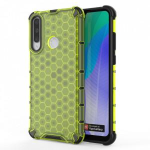 Гръб Honeycomb Armor със силиконов бъмпер - Huawei Y6p зелен