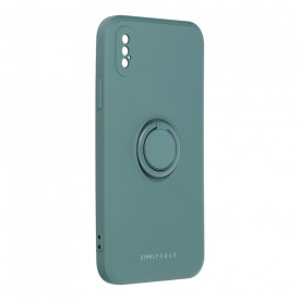 Гръб Roar Amber с държач - iPhone X / Xs зелен