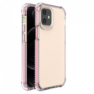 Гръб Spring Armor с цветна рамка - iPhone 12 Mini розов