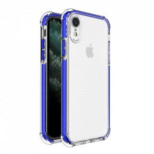 Гръб Spring Armor с цветна рамка - iPhone XR син