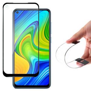 Гъвкав протектор от нано стъкло WOZINSKY пълно покритие с рамка - Xiaomi Redmi 10X 4G / Redmi Note 9 черен