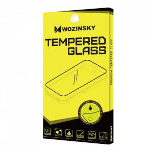 Закален стъклен протектор WOZINSKY Full Glue пълно покритие съвместим с гръб - Motorola Moto E7 черен