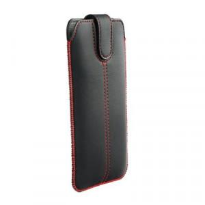 Калъф тип джоб FORCELL Ultra Slim M4 - iPhone 5 / 5s / SE / 5C черен