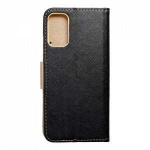 Калъф тип книга Fancy - Xiaomi Redmi Note 10 5G / Poco M3 Pro / Poco M3 Pro 5G черен / златист