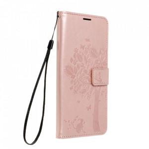 Калъф тип книга Forcell MEZZO - Samsung Galaxy A02s дърво / розово злато