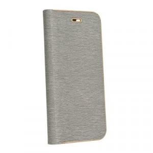 Калъф тип книга Luna - Huawei P20 Lite сребърен