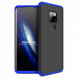 Калъф 360° GKK Full Body Cover (без стъкло) - Huawei Mate 20 черно-син
