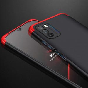 Калъф 360° GKK Full Body Cover (без стъкло) - Xiaomi Poco M3 черен-червен