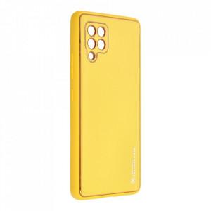 Кожен гръб Forcell LEATHER - Samsung Galaxy A42 5G жълт