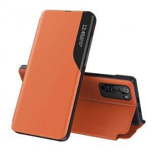 Кожен калъф тип книга ECO - Xiaomi Mi 11i / Poco F3 / Poco F3 Pro / Redmi K40 / Redmi K40 Pro оранжев
