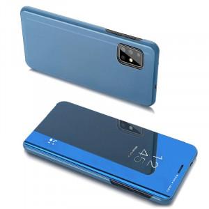 Огледален калъф тип книга Clear View - Samsung Galaxy A20s син