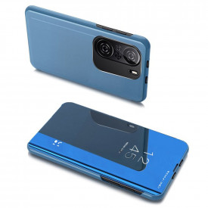 Огледален калъф тип книга Clear View - Xiaomi Mi 11i / Poco F3 / Poco F3 Pro / Redmi K40 / Redmi K40 Pro син