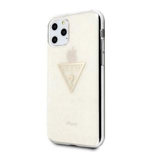 Оригинален гръб GUESS Glitter Triangle GUHCN58SGTLGO - iPhone 11 Pro златен