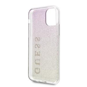 Оригинален гръб GUESS Gradient Glitter GUHCN58PCUGLGPI - iPhone 11 Pro розово злато