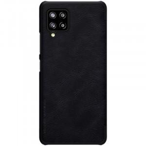 Оригинален кожен калъф тип книга Nillkin Qin - Samsung Galaxy A42 5G черен