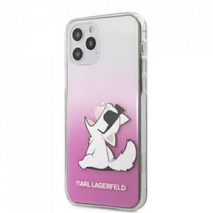 Оригинален твърд гръб KARL LAGERFELD KLHCP12SCFNRCPI - iPhone 12 Mini розов