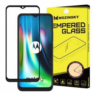 Протектор с пълно покритие и рамка WOZINSKY съвместим с гръб - Motorola Moto G9 Play / Moto E7 Plus черен