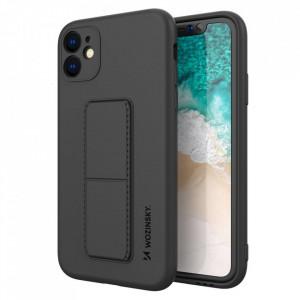 Силиконов гръб със стойка Wozinsky Kickstand - iPhone 12 черен