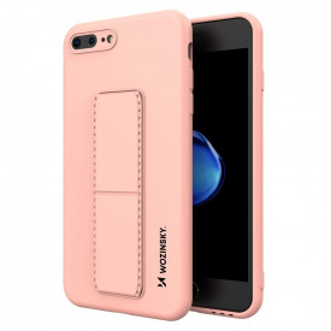 Силиконов гръб със стойка Wozinsky Kickstand - iPhone 7 Plus / iPhone 8 Plus розов