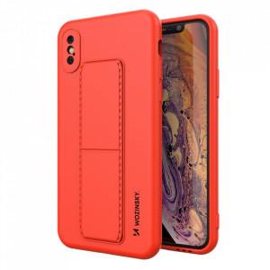 Силиконов гръб със стойка Wozinsky Kickstand - iPhone X / iPhone XS червен
