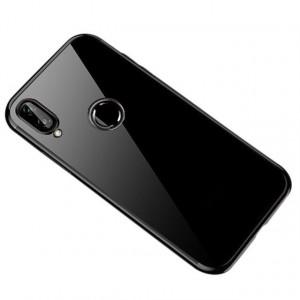 Силиконов гръб Clear Color с кант - Huawei P Smart 2019 черен