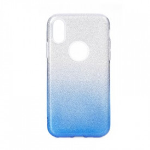 Силиконов гръб FORCELL Shining - iPhone 11 Pro Max прозрачен-син